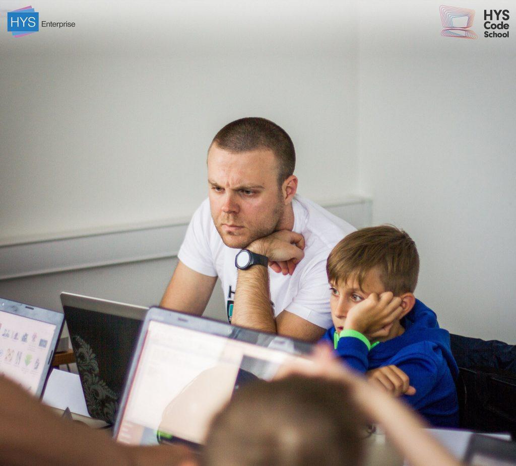 Первые строки кода этих талантливых деток написаны в HYS Enterprise под руководством опытных программистов