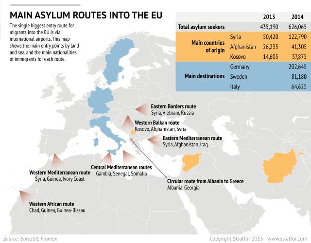 Беженцы из стран Ближнего Востока - угроза стабильности для стран Шенгенской зоны