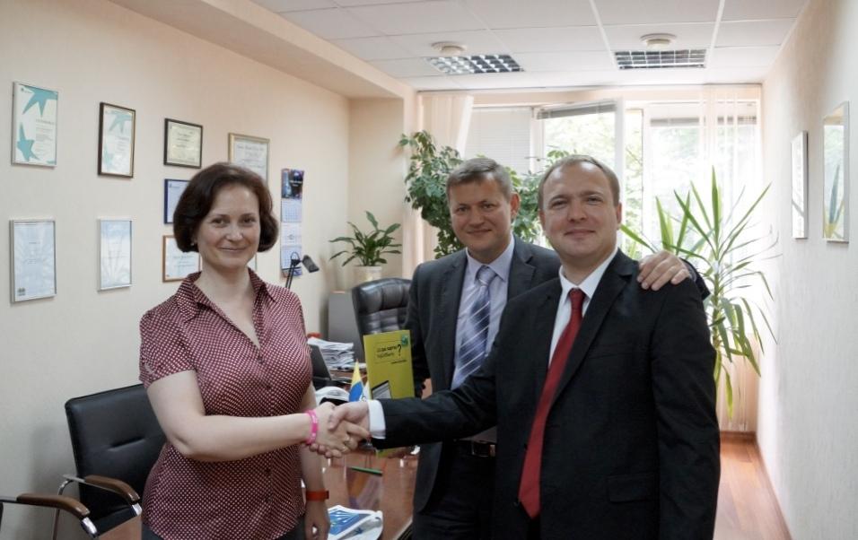 Подписание меморандума о сотрудничестве с Укрсиббанком 30 мая